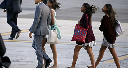 What's President Obama doing in NYC with Sasha and Malia?