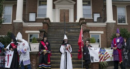 KKK Confederate flag rally tests power of 'invisible empire'