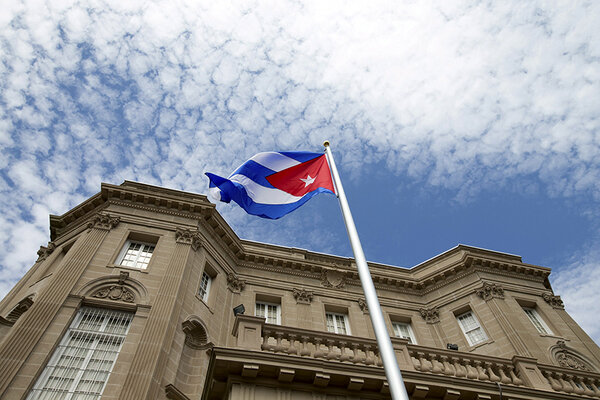 For first time in 54 years, new ties begin as Cuba raises flag at embassy in US