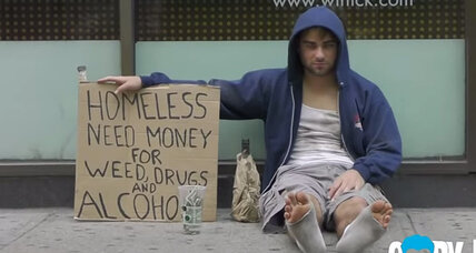 Who would you give to, a homeless dad or a homeless addict?