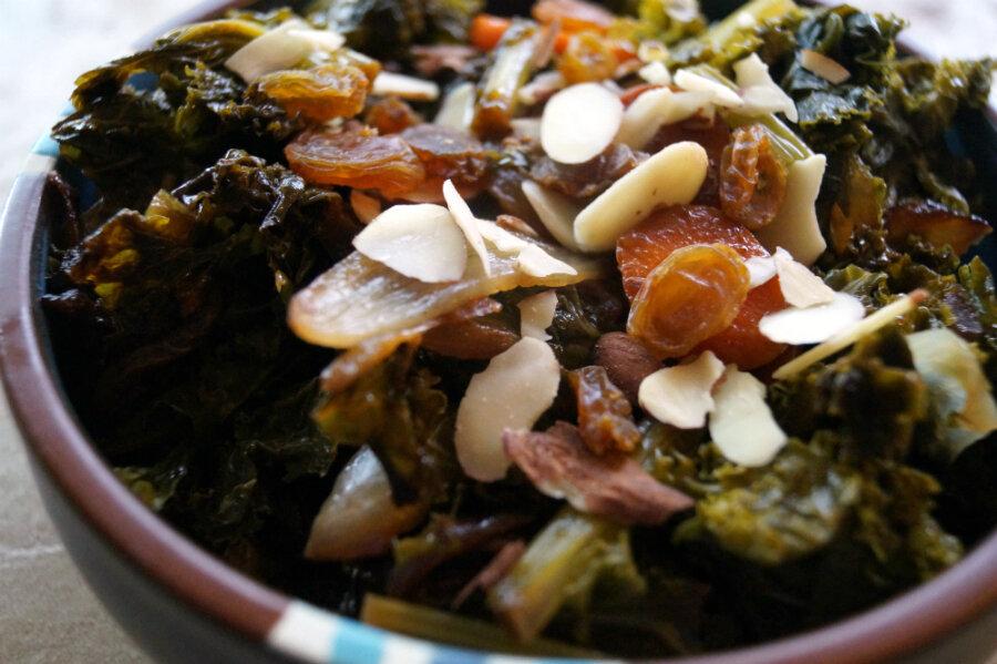 Keep calm and kale on: kale, carmelized onions, and carrots