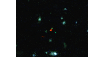 Lopsided galaxy reveals clues about early universe