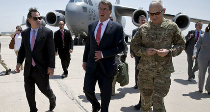 US Defense Sec. Carter makes surprise visit to Iraq