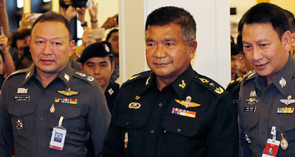 What led Thailand to arrest 72 on human-trafficking charges?
