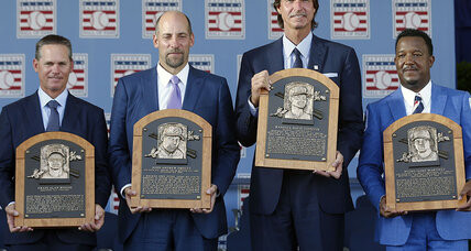 Pedro, 'Big Unit,' Biggio and Smoltz welcomed to Baseball Hall of Fame