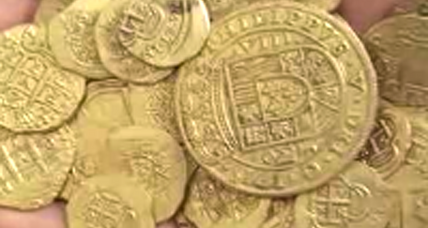 Florida treasure hunters find gold coins on 1715 shipwreck