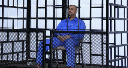 Qaddafi's son sentenced to death in Libya, but court lacks custody
