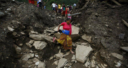 Deadly monsoon landslides spotlight Nepal's post-quake challenges