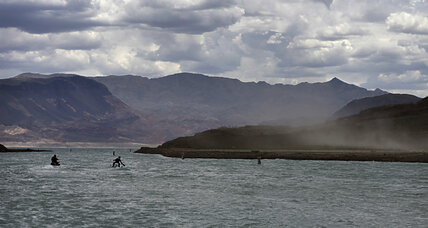 Lake Mead shrinks to unveil long-submerged historic town