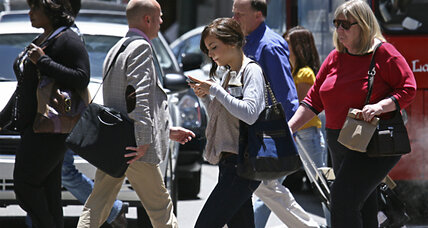 Study: Humans are adapting to walk and text