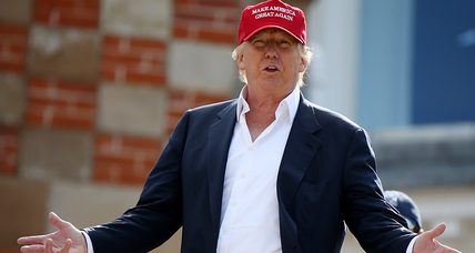 What is Donald Trump's strategy for the GOP debate?