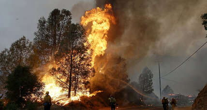 Cooler weather helps firefighters with Calif. wildfire