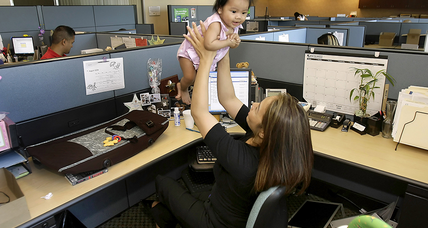 Does an infant belong in the office?