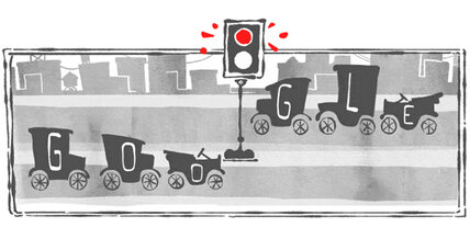 When was the first traffic light installed, asks Google Doodle