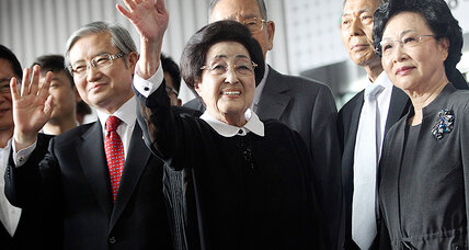 Former South Korean first lady's visit to North raises hope to ease tensions