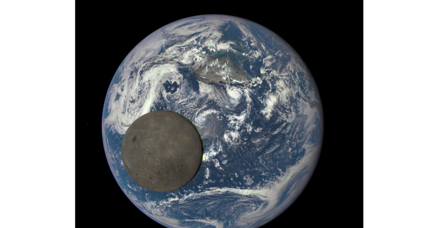 Breathtaking photo shows moon crossing Earth's face