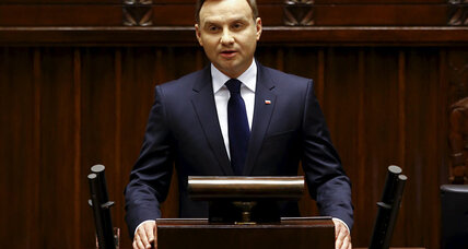 Andrzej Duda, Poland's new conservative president, takes office
