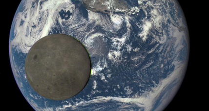 NASA spacecraft snaps spectacular images of moon transiting Earth