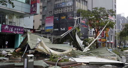 Typhoon hits Taiwan and China