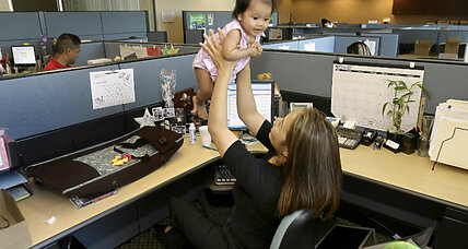 Should parents be allowed to bring children to the office?