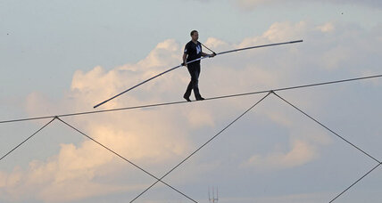 In age of extreme sports, digital draws, old-fashioned tightrope stunts still enthrall