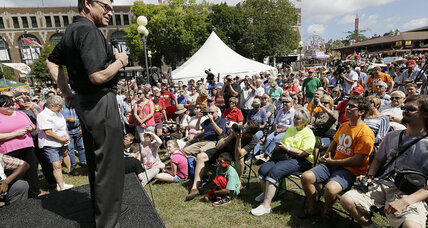 Pork chops, soap boxes, and hecklers: Are 2016 candidates ready for Iowa fair?