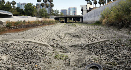 A river runs dry in California, despite successful water rationing