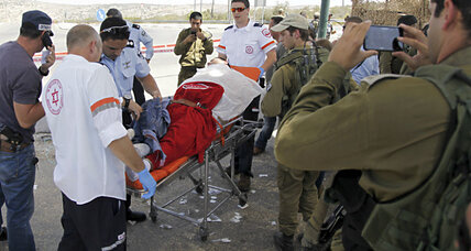 Palestinian shot after stabbing Israeli soldier