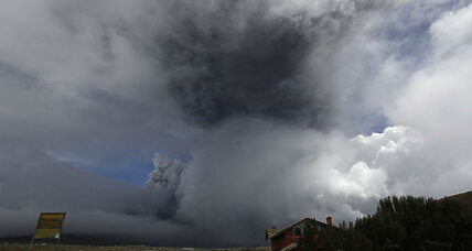 Erupting volcano in Ecuador prompts state of emergency