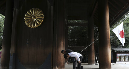 At Japan's Yasukuni shrine, displays of nationalism – and prayers for peace