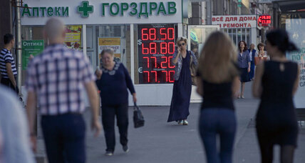 Ruble turning to rubble? No signs of panic in the Kremlin.