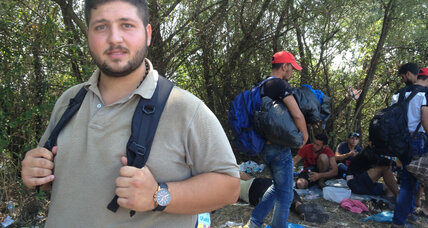 Young Syrian migrant's navigational tool: 'I follow the trash'