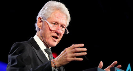 Why did Bill Clinton seek US OK for a North Korea speech?