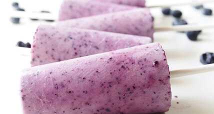 Blueberry popsicles