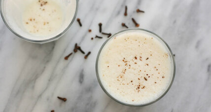 Homemade yogurt lassi