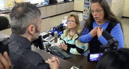 Will Kentucky clerk's jailing move needle on debate over religious liberty?