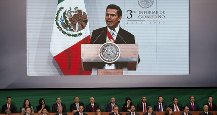 'The last year has been a difficult one for Mexico.' Pena Nieto acknowledges country's troubles