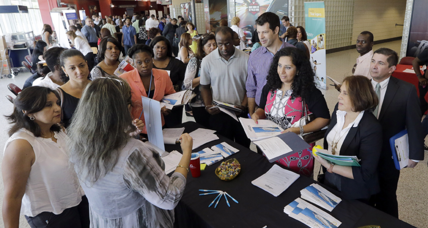 Jobless claims rise, but labor market strengthening, say experts