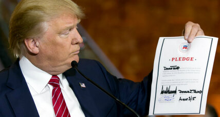 How Donald Trump won by signing 'loyalty pledge'