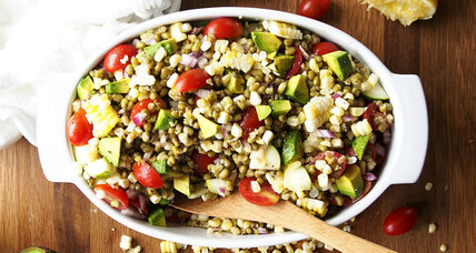 Summer veggie mung bean salad