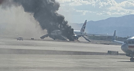 Smoke on a plane: Passengers safely evacuated after engine catches fire