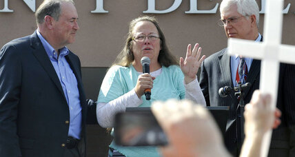 Is supporting Kim Davis the path to evangelical votes?