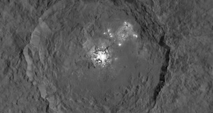 Dawn brings mysterious bright spots on Ceres into focus