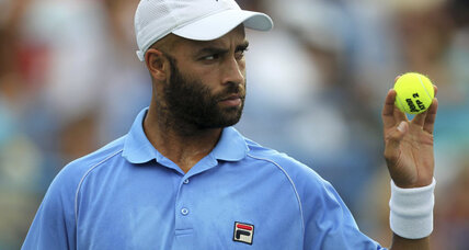 Why is New York police chief apologizing to tennis pro James Blake?