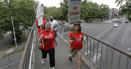 Seattle teachers pause protests for 9/11 anniversary