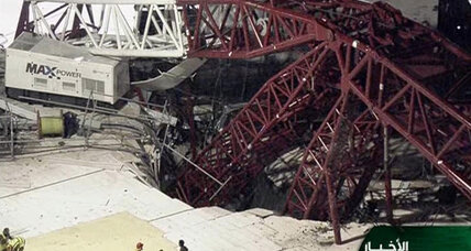 At least 87 dead after crane collapses in Mecca