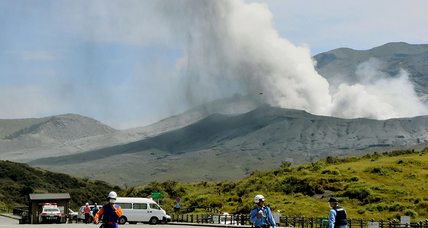 Mount Aso, Japan's most active volcano, erupts