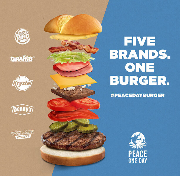 Burger King And Rivals Will Give Away Peace Day Burgers Without