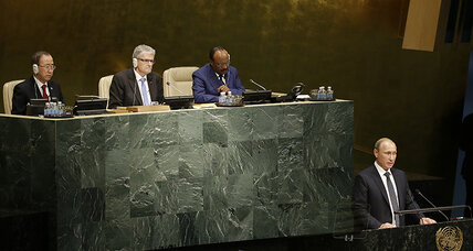 At UN, Putin talks tough against IS. Will the West work with him?