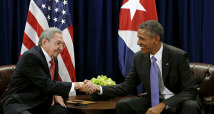 Obama, Castro meet on sidelines of UN General Assembly